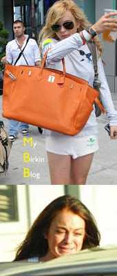 1b3cef022a51 She carried a 40 CM orange Birkin bag. That was the exact Birkin bag stolen  at the Heathrow Airport in 2006. Do you remember the news