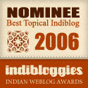 Indibloggies 2006 Nominee