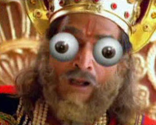 Dhritrashtra - Eyes Popping Out