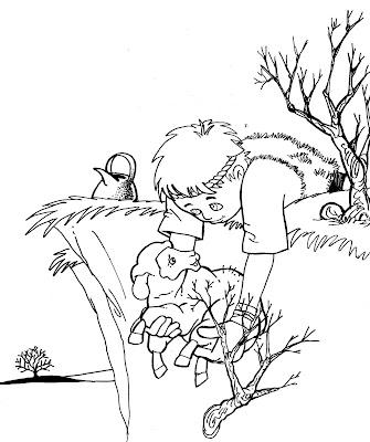 Desenho para colorir O pastor e a ovelha
