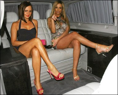 Chanelle Hayes and Chantelle Houghton in sexy dresses