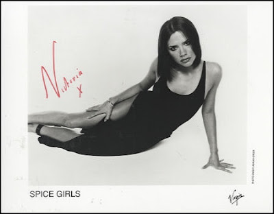 spice girls super star victoria autograhed photo