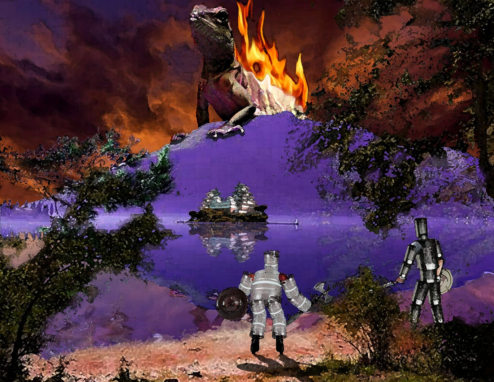 digital arts 4  project  surrealist landscape