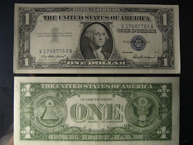 Get Bucks! 1957 $1 One Dollar Silver Certificate Blue Seal Note Circulated