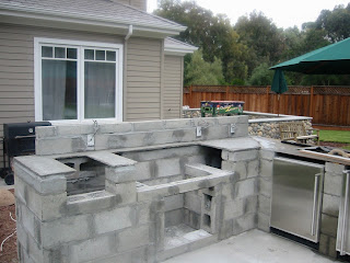 Outdoor Kitchen Construction: June 2009