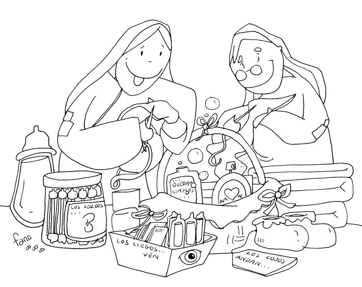 Blog para una Navidad Feliz: Dibujos de Fano para colorear de Adviento