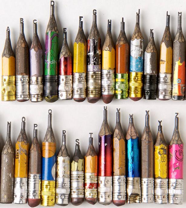 letter art images. tiny pencil letter art