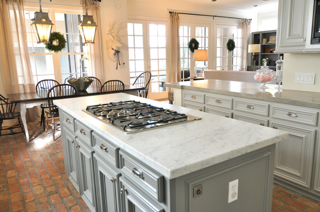 Red Brick Floor Kitchen : Header gray kitchen love