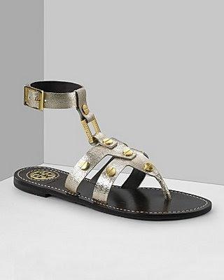 ToryBurchBrizaSandalSilver - comfort sandles