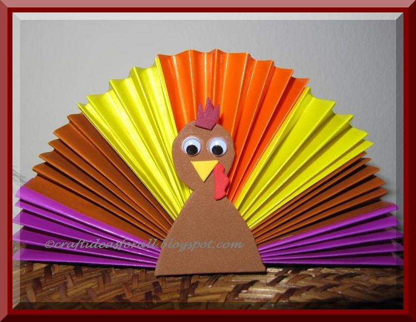 Paper fan turkey munchkins and mayhem