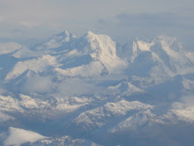 Mountain view near Ushuaia from the plane
