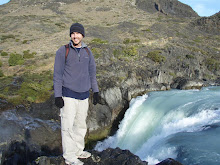 Eric with waterfall Salto Grande