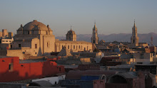 Sunset in Arequipa, Peru