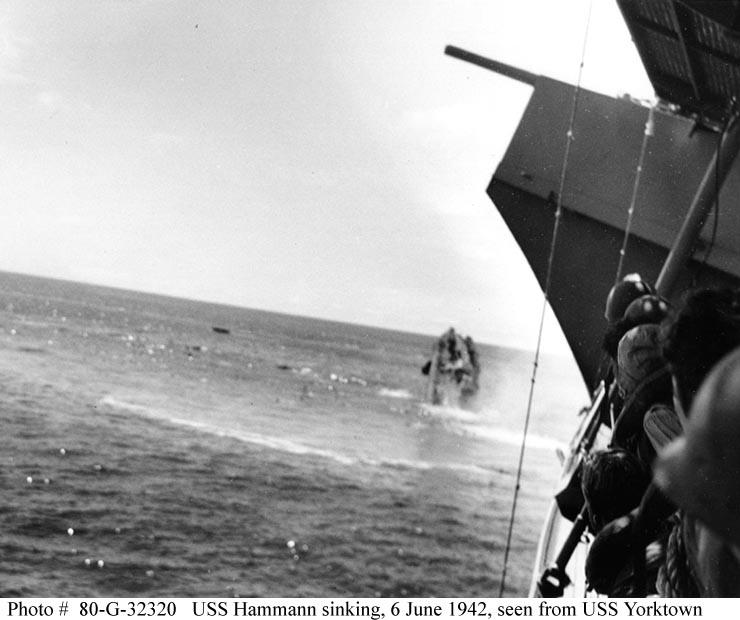 naval warfare  uss hammann  dd