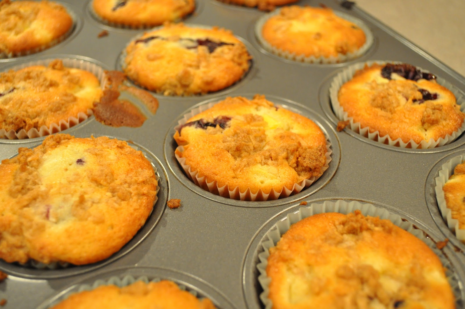... French Fries: Mango Blueberry Muffins with Coconut Streusel Topping