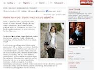 INTERVIEWED FOR BLOG.SME.SK