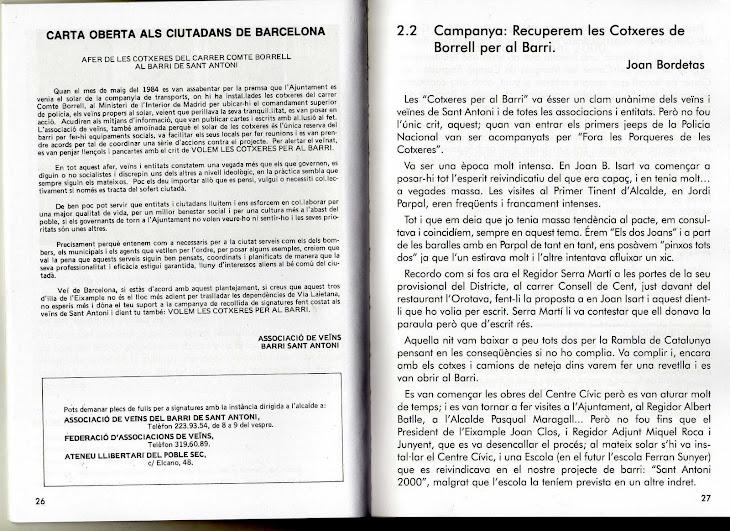 Memòria Històrica de la recuperació per part dels veïns de les Cotxeres Borrell
