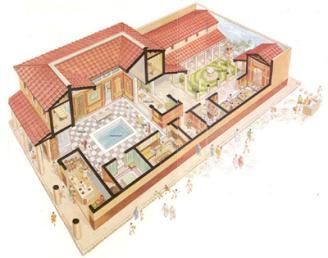De romeinen het leven van de romeinen for Piani di architettura domestica moderna