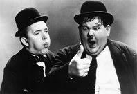 Stan Laurel - 16/06/1890 - 23/02/1965 & Oliver Hardy - 18/01/1892 - 07/08/1957