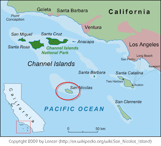 Map of San Nicolas Island California