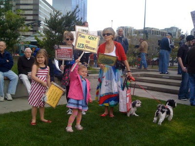 Tea Party Protesters Bring Their Dogs For Added Intimidation