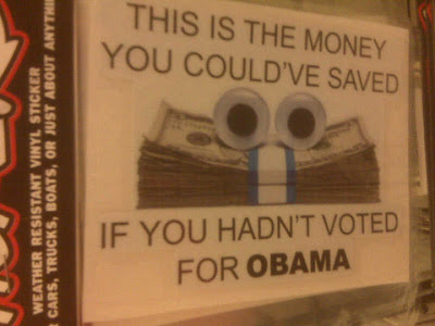 This is the money you could have saved if you hadn't voted for Obama.