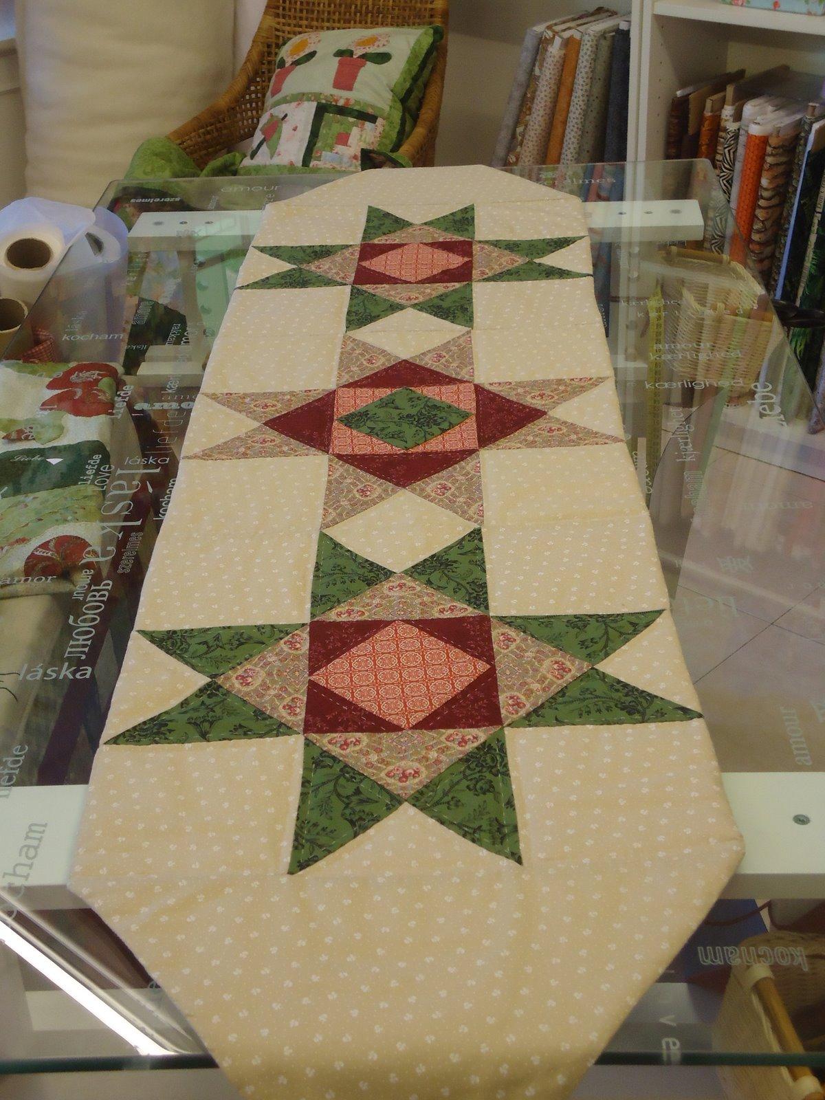 Puntadas patchwork y pintura en seda camino de mesa - Camino mesa patchwork ...