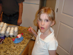 Abi coloring eggs