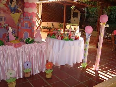 Mesa de apoio para doces