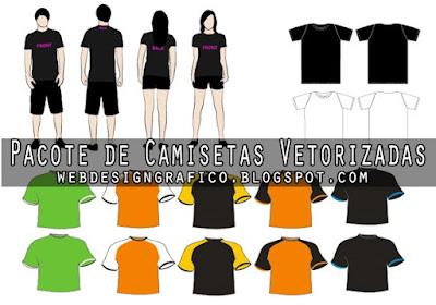 Pacote de Camisetas Vetorizadas