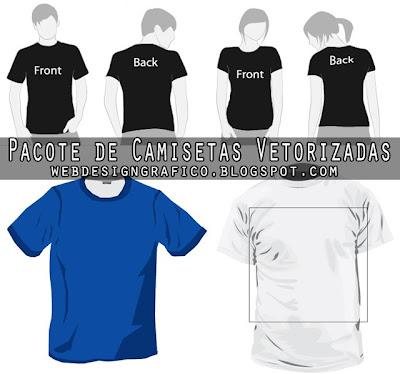 De Camisetas Vetorizada Facil De Ser Redimensionada E Modificada Em