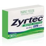 The Zyrtec I took: