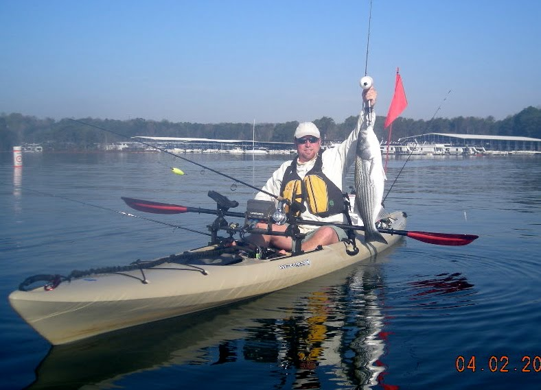 Early april lanier area kayak fishing report lake lanier for Lake lanier fishing spots