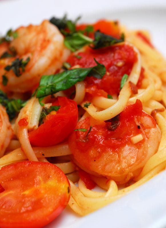 Sugar & Spice by Celeste: Shrimp, Tomato and Basil Pasta
