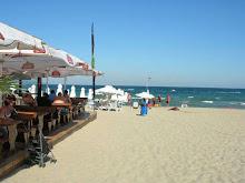 Spis middag på stranden