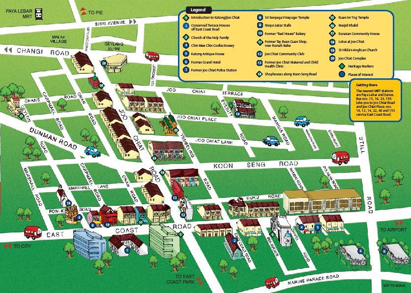 katong and joo chiat singapore mapmap of katong and joo chiat singapore tourist