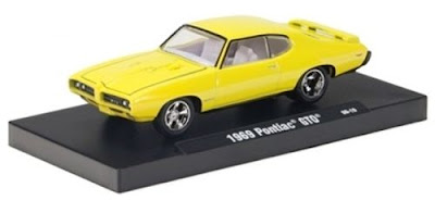 Marks Diecast M2 Machines 1969 Pontiac GTO Bright Yellow