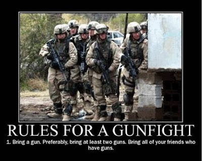 Patriot Nation US Military Motivational Posters Rules For A Gunfight