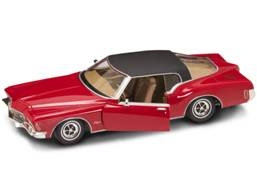 Buick Diecast Yatming 92558Red 1-18th Scale 1971 Buick Riviera Red With Black Vinyl Top