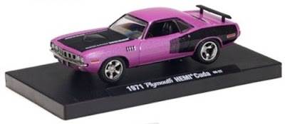 Plymouth Diecast M2 Machines Drivers Release 4 1971 Plymouth HEMI Cuda Medium Pink Pearl  Link To Plymouth Diecast