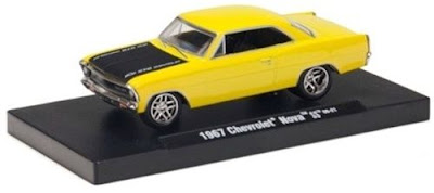 Chevy Diecast  M2 Machines Drivers Release 4 1967 Chevrolet Nova Bright Yellow