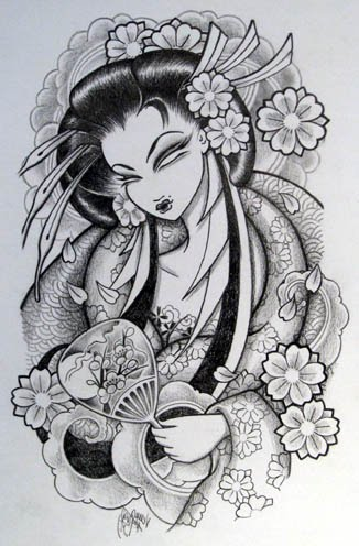 Venus Flytrap Tattoo Sakura Geisha Tattoo Design In Monochrome