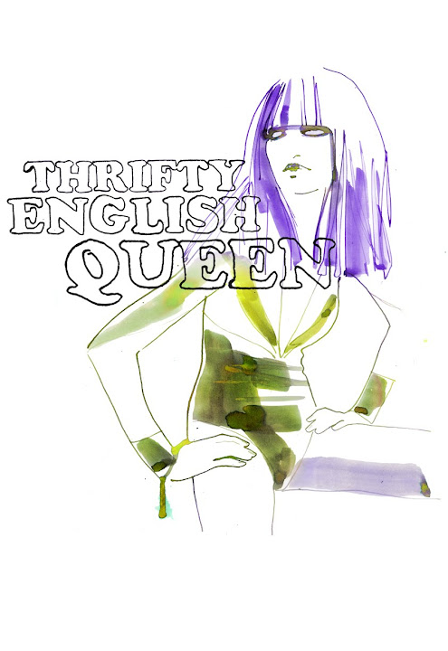 thrifty english queen vintage