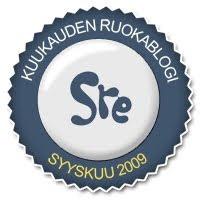 SRE - tunnustus syyskuulta, 2009