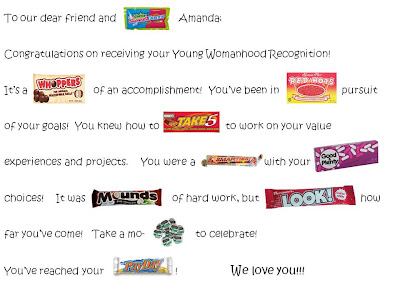 Personal Progress Sweet Accomplishment Candy Bar Poster