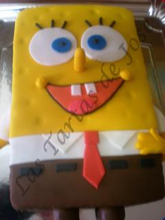 Tarta decorada de Bob Esponja. Las tartas de Jose. Castellón.