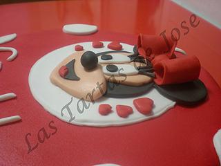 Tarta decorada Minnie. Las tartas de Jose. Castellón