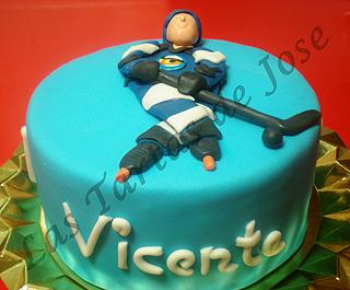 Tarta Jugador de Hockey. Las tartas de Jose. Castellón.