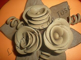 Tarta decorada con flores.Las tartas de Jose.Castellón.