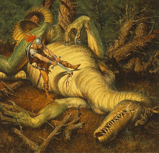 frederick henrys encounter with grendel Beowulf shears off the head of grendel oil painting by john henry frederick bacon, the highest quality oil painting reproductions and great customer service.
